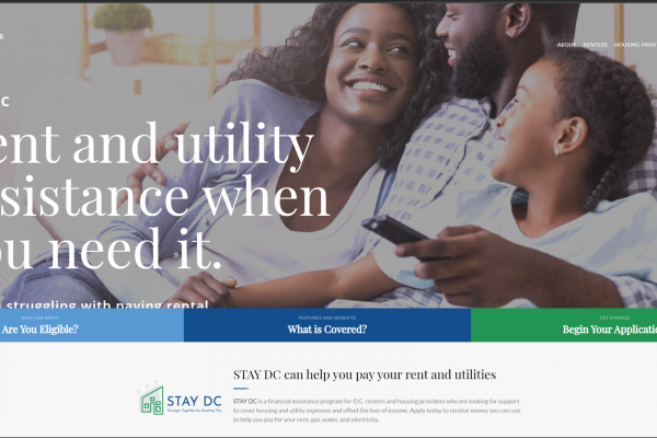 STAY DC Website Screenshot